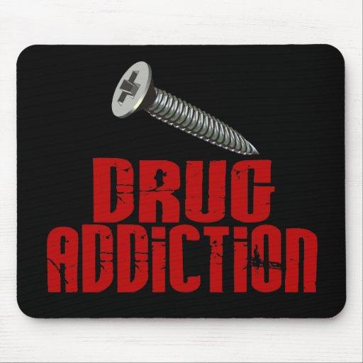 Drogadicción del tornillo alfombrillas de ratón