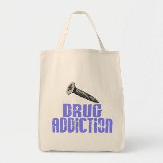 Drogadicción del tornillo azul clara bolsa de mano