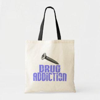 Drogadicción del tornillo azul clara bolsas