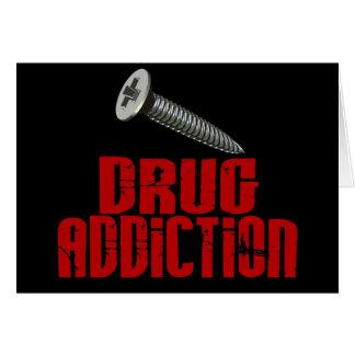 Drogadicción del tornillo felicitacion