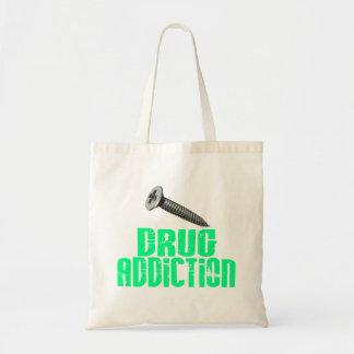 Drogadicción del tornillo verde clara bolsas de mano