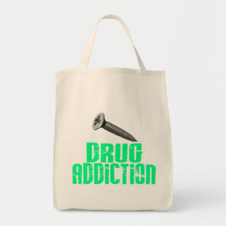 Drogadicción del tornillo verde clara bolsa de mano