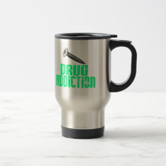 Drogadicción del tornillo verde clara taza de viaje de acero inoxidable