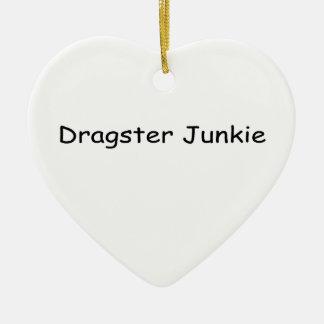 Drogadicto de Dragster por Gear4gearheads Adorno Navideño De Cerámica En Forma De Corazón