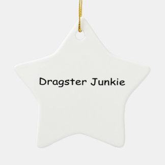 Drogadicto de Dragster por Gear4gearheads Adorno Navideño De Cerámica En Forma De Estrella