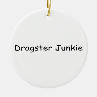 Drogadicto de Dragster por Gear4gearheads Adorno Navideño Redondo De Cerámica