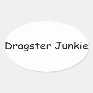 Drogadicto de Dragster por Gear4gearheads Pegatina Ovalada