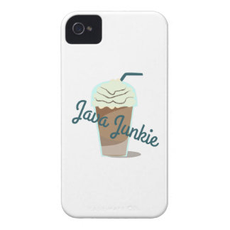 Drogadicto de Java iPhone 4 Case-Mate Cárcasas