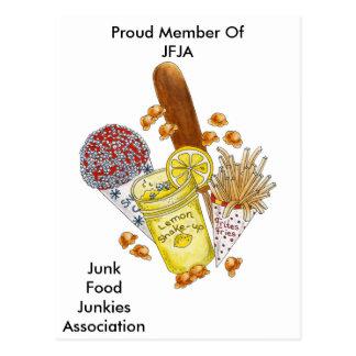 ¡Drogadicto de Junk Food! - Postal