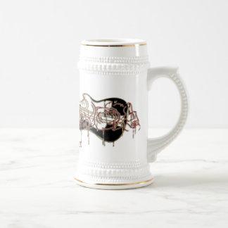 Drogadicto de la banda taza de café