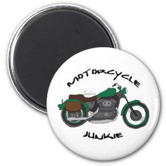 drogadicto de la motocicleta imán para frigorifico