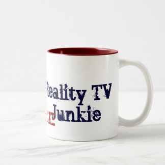 Drogadicto de la realidad TV Taza De Dos Tonos