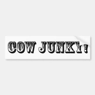 ¡Drogadicto de la vaca! Pegatina Para Auto