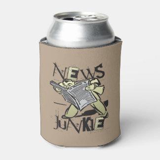 Drogadicto de las noticias enfriador de latas
