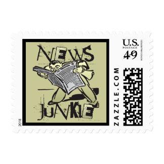 Drogadicto de las noticias timbres postales