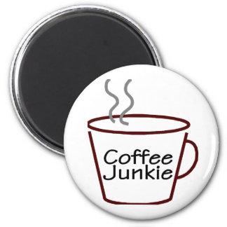 Drogadicto del café iman de frigorífico
