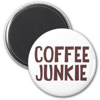 Drogadicto del café imán redondo 5 cm