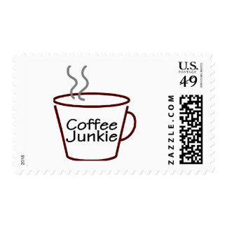 Drogadicto del café sello