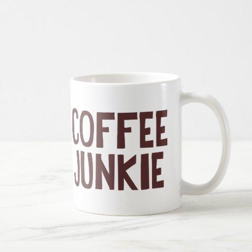 Drogadicto del café taza básica blanca