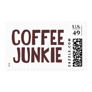 Drogadicto del café timbre postal