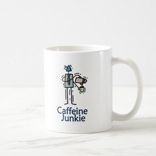 Drogadicto del cafeína tazas de café