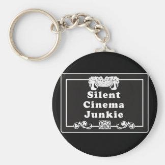 Drogadicto del cine silencioso llavero redondo tipo pin