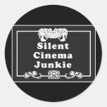 Drogadicto del cine silencioso pegatina