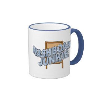 Drogadicto del lavadero taza de café