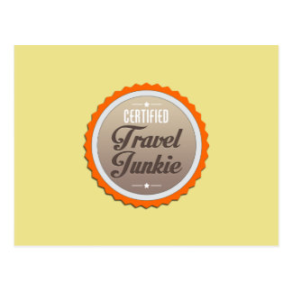 Drogadicto del viaje tarjetas postales