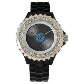 Drogadicto del vinilo relojes de pulsera