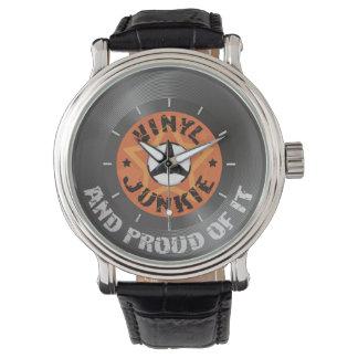 Drogadicto del vinilo - y orgulloso de él reloj de mano