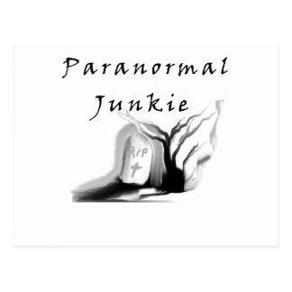 Drogadicto paranormal tarjeta postal