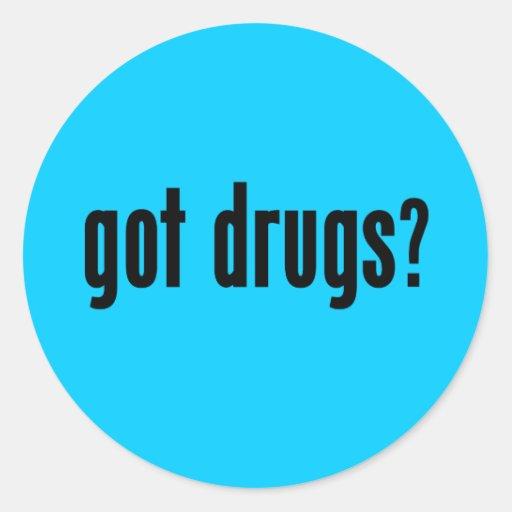¿drogas conseguidas? pegatina redonda