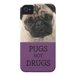 Drogas de los barros amasados no púrpuras funda para iPhone 4