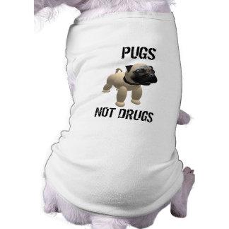 Drogas de los barros amasados no camiseta de perrito