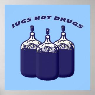 Drogas de los jarros no poster