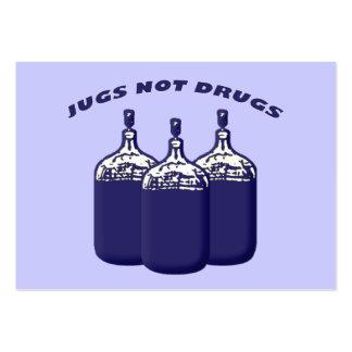Drogas de los jarros no tarjeta personal