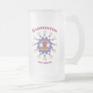 Drogas del bádminton no taza de cristal
