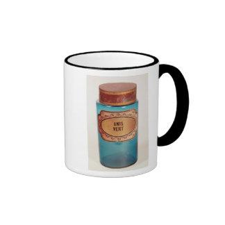 Drogue el tarro, con la etiqueta para los Anis Taza De Dos Colores