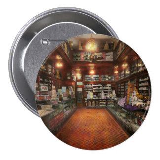 Droguería - farmacia 1913 de G.W. Armstrong Pin Redondo De 3 Pulgadas