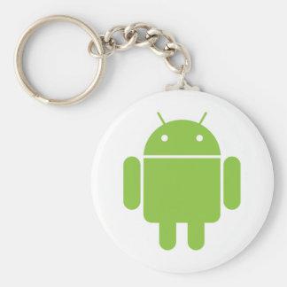 Droid Basic Round Button Keychain