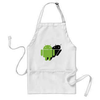 Droid being followed adult apron
