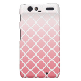 Droid Pink Fade Quatrefoil Case Motorola Droid RAZR Case