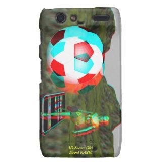 Droid RAZR 3D Soccer Girl Case Droid RAZR Cases