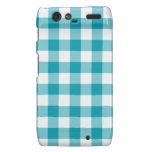 Droid RAZR Barely There Case Teal Check Gingham Droid RAZR Covers