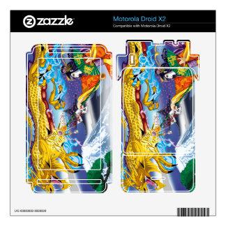 Droid X2 Geisha Of The Dragon Vinyl Skins Motorola Droid X2 Decal