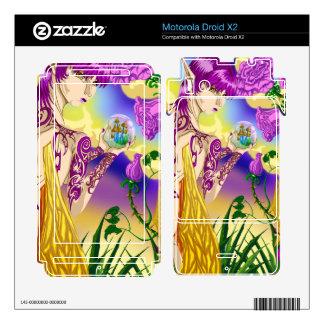 Droid X2 Mushroom Fairy Vinyl Skins Motorola Droid X2 Decal