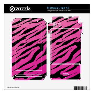 Droid X2 Pink Tiger Stripes Vinyl Skins Motorola Droid X2 Decal