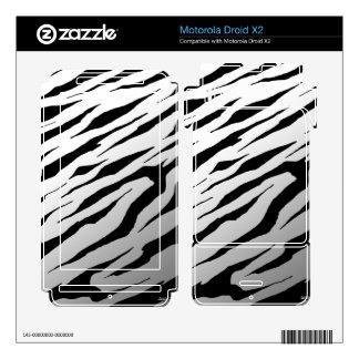 Droid X2 White Tiger Stripes Vinyl Skins Motorola Droid X2 Decals