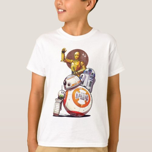 Droids Illustrated Collage T_Shirt